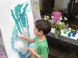 about us beverley church preschool 666 | outdoor painting