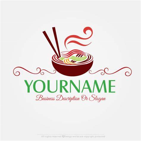 logo cuisine free logo maker noodles logo design