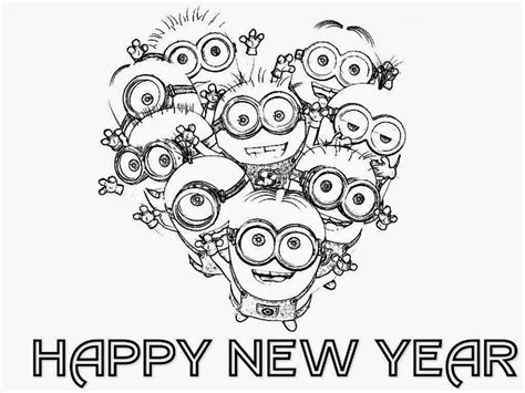 happy new year coloring pages printable new year cards coloring pages coloring pages