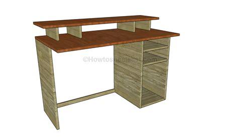 computer desk plans free computer desk plans howtospecialist how to build