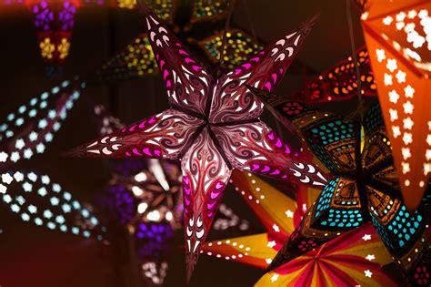 Colored Paper Lanterns  Hanging Paper Star Lights