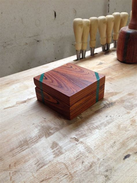custom made cocobolo engagement ring box with malachite inlays by cjs woodworks custommade com