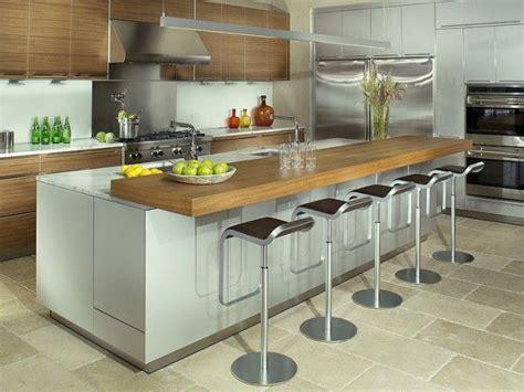 table centrale cuisine inspirations 5 cuisines avec table intégrée ilot