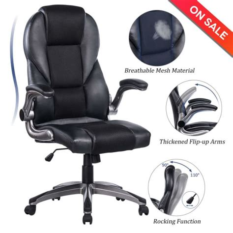 Office Chairs With Flip Up Arms by Shop For Breathable High Back Mesh Leather Office Chair