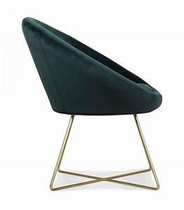 Pied De Menthe : fauteuil rond velours vert menthe pieds m tal dor ~ Melissatoandfro.com Idées de Décoration