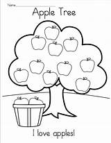 Apple Tree Coloring Printable Kindergarten Reading Worksheet Worksheets Preschool Pages Fall Madebyteachers Math Numbers Books Read Addition Pattern Practice Alphabet sketch template