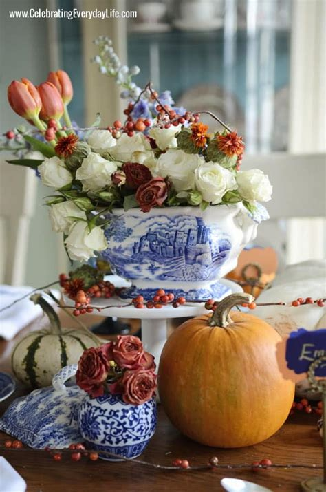 blue willow thanksgiving thanksgiving table inspiration