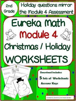 2nd grade eureka math module 4 christmas holiday worksheets 5 sets