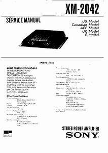 Sony Xm-2042 Service Manual