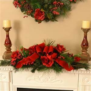 Christmas Centerpiece with Roses Rose Christmas