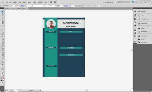 tutorial membuat cv  illustrator kelas desain