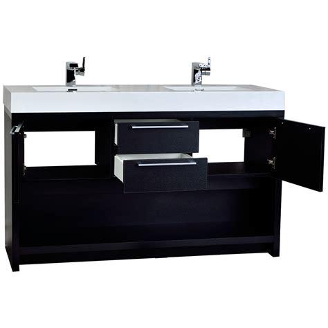 modern double sink vanity 57 quot contemporary double sink vanity set black tn fa1440 bk