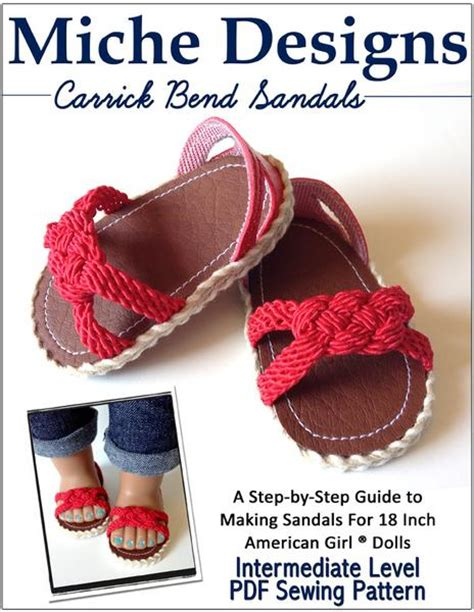 carrick bend sandals   doll shoes pattern