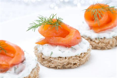rye bread canapes festive appetizer canape with rye bread cheese
