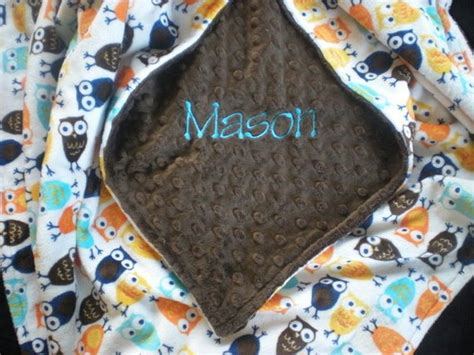 Baby Boy Blanket Personalized Owl Minky Blanket Heated Throw Blanket Cordless How To Wrap A Baby In Receiving Dreamland Sleepwell Single Electric Luxury Blankets Personalised Hudson Bay Dog Bed Attached Summer Weight Down Super King Size