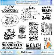 Beach Typography Word Art  Summer Inspirational Quote  Digital      Beach Quotes And Sayings For Scrapbooking