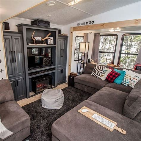 fabulous rv makeovers ideas  farmhouse style vintage campers rv living rv interior