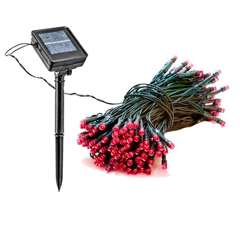 red outdoor christmas lights reusable revolution 150 light 55 ft solar powered
