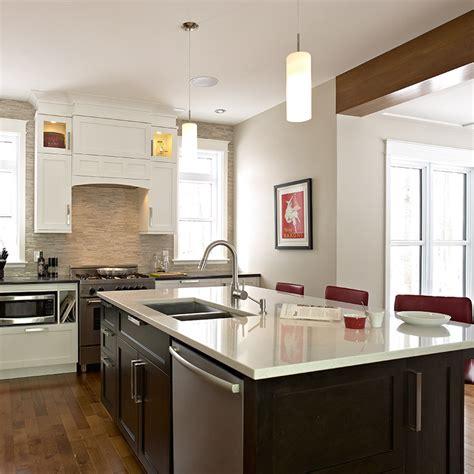 realisation cuisine ilot central avec lave vaisselle imahoe com