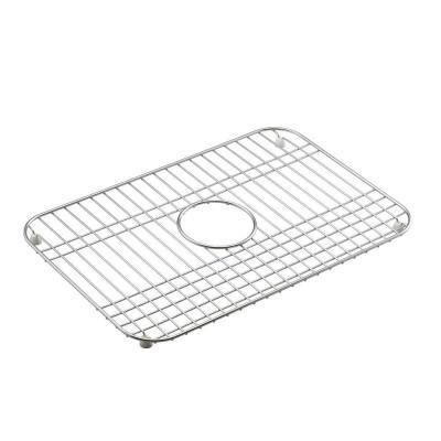 stainless steel sink rack kohler mayfield 12 1 2 in x 19 in bottom sink basin rack