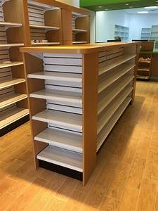 Rx, Wood, Top, Gondola, Shelving, From, Handy, Store, Fixtures