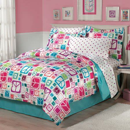walmart bed comforters my room peace out bed in a bag bedding set walmart
