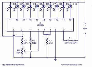 12v Battery Led Level Indicator Circuit