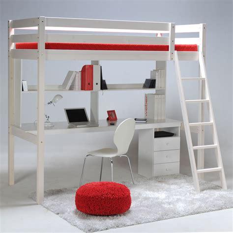 lit superposé bureau ikea lit mezzanine sapin 90x190cm sommier bureau et caisson