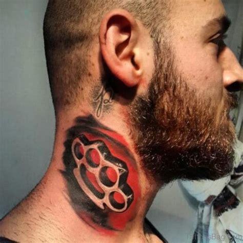 extraordinary ripped skin neck tattoos