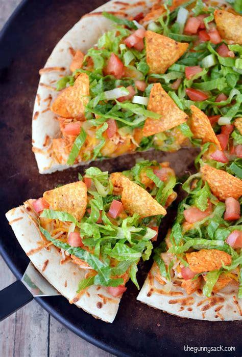 Chicken Taco Pizza Recipe The Gunny Sack