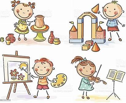 Creative Vector Cartoon Children Drawings Para Activities