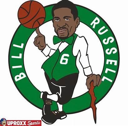 Celtics Nba Logos Boston Russell Bill Player