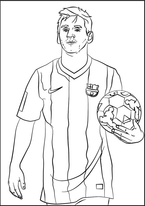 Lionel Messi Soccer Coloring Page Printable