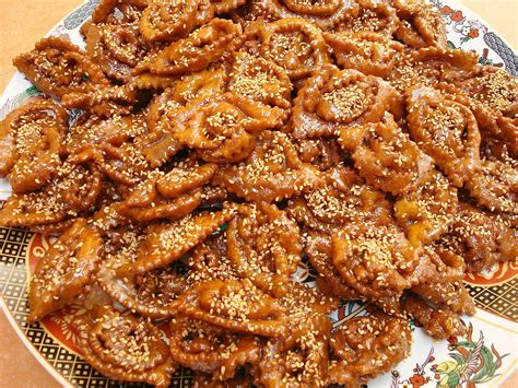 moroccan cuisine recipes moroccan chebakia recipe sesame and honey cookies
