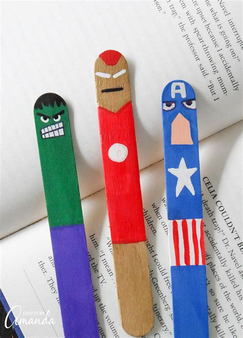 avengers bookmarks fun family crafts