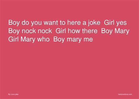 Boy Do You Want To Here A Joke Girl Yes Boy Nock Nock