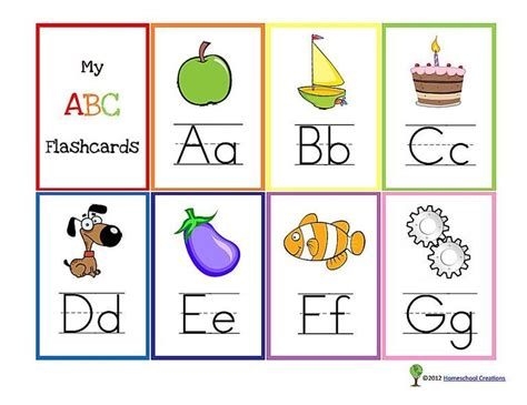 11 Sets Of Printable Alphabet Flashcards