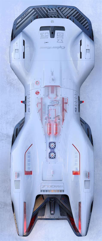 futuristic honda cyberrace concept  future sports car