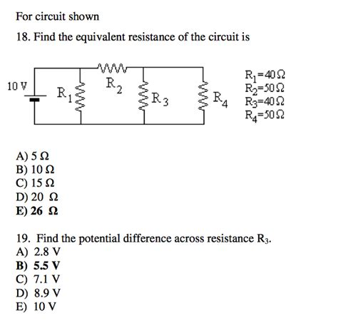 Solved For Circuit Shown Find The Equivalent Resistan