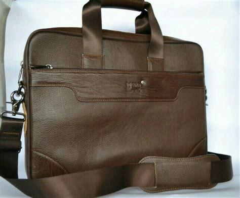 jual tas kerja laptop kulit asli branded montblanc coklat di lapak dunia kulit alvi699