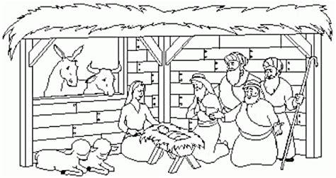 casa de cristo preschool dibujos portal de bel 233 n para imprimir y colorear 491