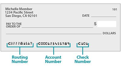 check account number routing number on a check routing and account numbers on