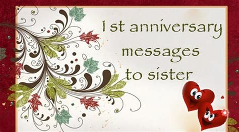 st anniversary messages  sister wedding anniversary wishes