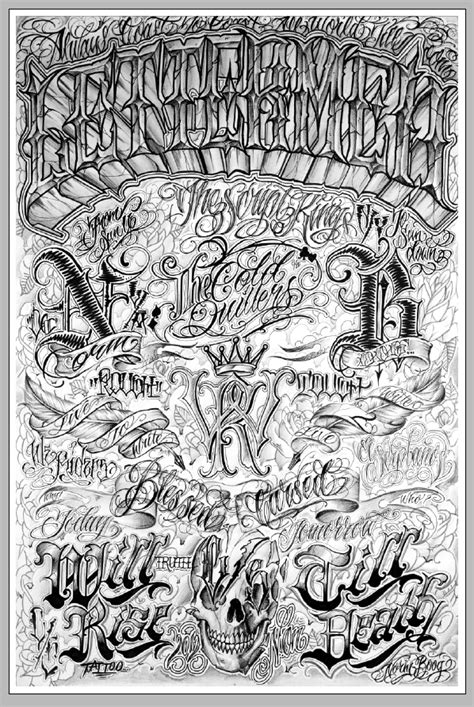 Lettermen Poster by Norm | Tattoo lettering fonts, Chicano lettering, Graffiti lettering