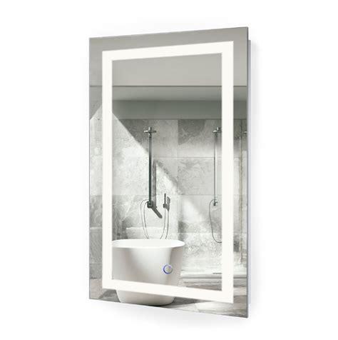 X On Bathroom Mirror by Icon 20 X 32 Led Bathroom Mirror With Dimmer Defogger