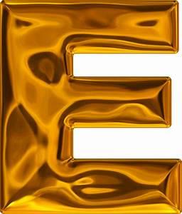 presentation alphabets lumpy gold letter e With gold letter e