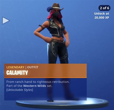 fortnite calamity skin features unlockable styles  xp