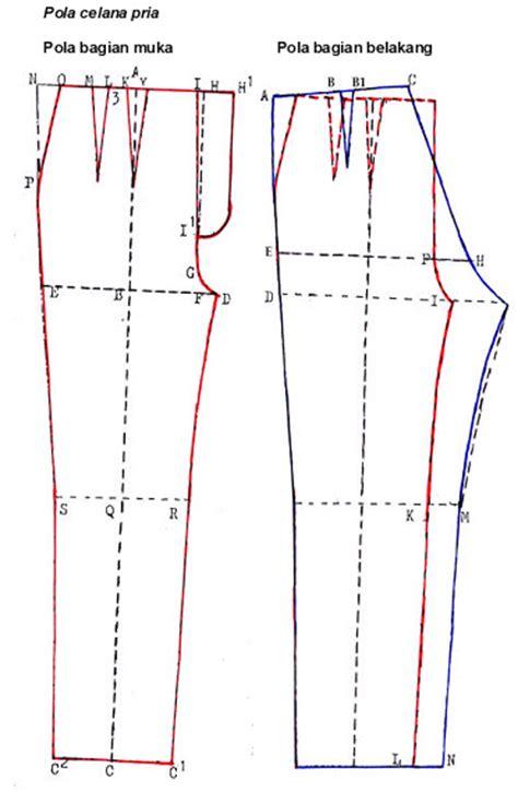 celana panjang lipit cara membuat pola dasar celana pria danitailor
