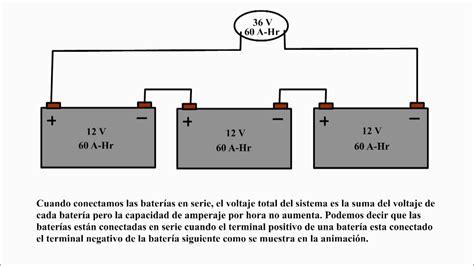 baterias en serie baterias en paralelo conexion de baterias en serie y paralelo youtube