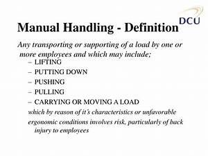 Ppt - Manual Handling Training Powerpoint Presentation